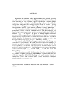 Pembelajaran Membandingkan Teks Anekdot Dengan Teks Eksposisi
