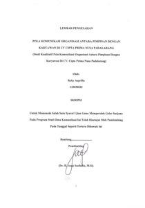 Pola Komunikasi Organisasi Antara Pimpinan Dengan Karyawan Di Cv Cipta Prima Nusa Padalarang Repo Unpas
