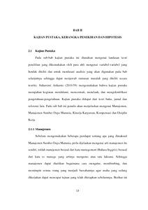 Pengaruh Kompensasi Dan Disiplin Kerja Terhadap Kinerja Karyawan Pada Pt Tirta Ratna Bandung Repo Unpas