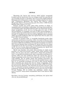 Pembelajaran Menyunting Teks Laporan Hasil Observasi Dengan