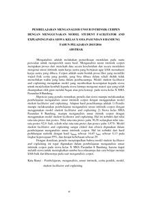 Pembelajaran Menganalisis Unsur Intrinsik Cerpen Dengan Menggunakan