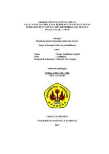 Eksekusi Putusan Pengadilan Tata Usaha Negara Yang