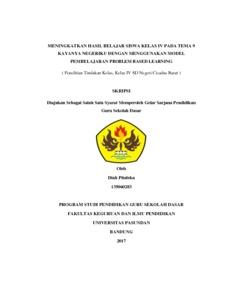 Meningkatkan Kemampuan Siswa Dalam Pembelajaran Bahasa Indonesia Pada Materi Menulis Dialog Sederhana Melalui Metode Kontekstual Penelitian Tindakan Kelas Dalam Pembelajaran Bahasa Indonesia Pada Siswa Kelas V Sd Negeri Situgunting 4 Bandung Kelurahan