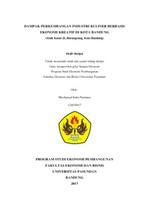 Dampak Perkembangan Industri Kuliner Berbasis Ekonomi Kreatif Di Kota Bandung Studi Kasus Jl Burangrang Kota Bandung Repo Unpas