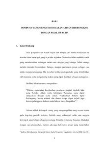 Penipuan Yang Mengatasnamakan Arisan Dihubungkan Dengan Pasal 378