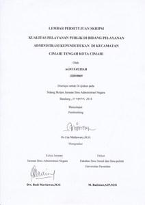 Kualitas Pelayanan Publik Di Bidang Pelayanan Administrasi Kependudukan Di Kecamatan Cimahi Tengah Kota Cimahi Repo Unpas