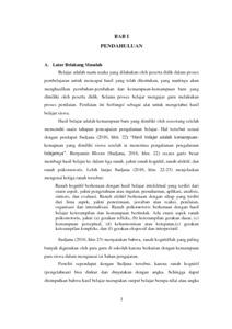 Pengaruh Pendampingan Orang Tua Terhadap Hasil Belajar Siswa Penelitian Deskriptif Kuantitatif Dilakukan Di Sd Negeri Mayak 1 Kecamatan Cibeber Repo Unpas