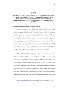 Penarikan Kendaraan Objek Leasing Oleh Pt Bank Perkreditan Rakyat Citradana Rahayu Melalui Debkolektor Berdasarkan Surat Kuasa Penarikan Dihubungkan Dengan Undang Ndang No 42 Tahun 1999 Tentang Fidusia Repo Unpas