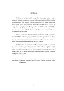 Pengaruh Pemahaman Akuntansi Pajak Dan Penerapan E Filing Terhadap Kepatuhan Wajib Pajak Survey Pada Kantor Pelayanan Pajak Pratama Bandung Cibeunying Repo Unpas