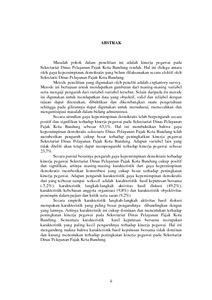 Analisis Pengaruh Gaya Kepemimpinan Demokratis Terhadap Kinerja Pegawai Pada Sekretariat Dinas Pelayanan Pajak Kota Bandung Repo Unpas